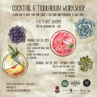 Edible OKC Cocktail & Terrarium Workshop